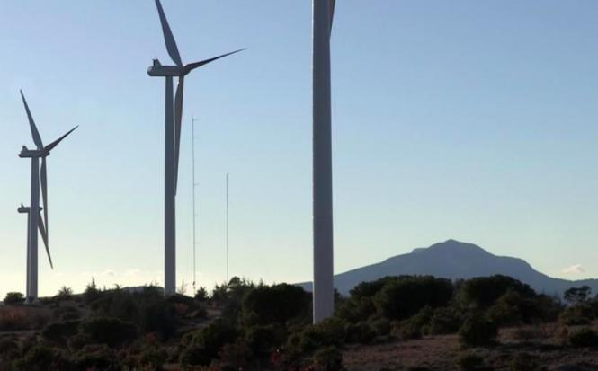 Wind farm near Sainte-Victoire mountain. 'Kafkaesque' row over 22 illegal wind turbines in south France