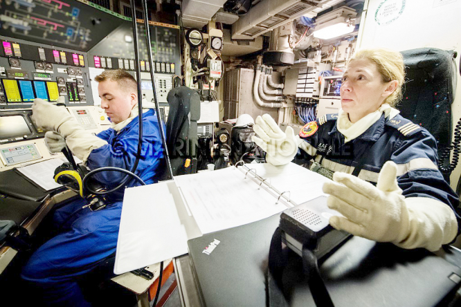 Woman submariner on SNES Vigilant 2018