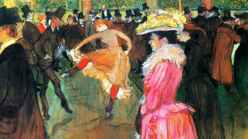 At the Moulin Rouge 1890, oil on canvas