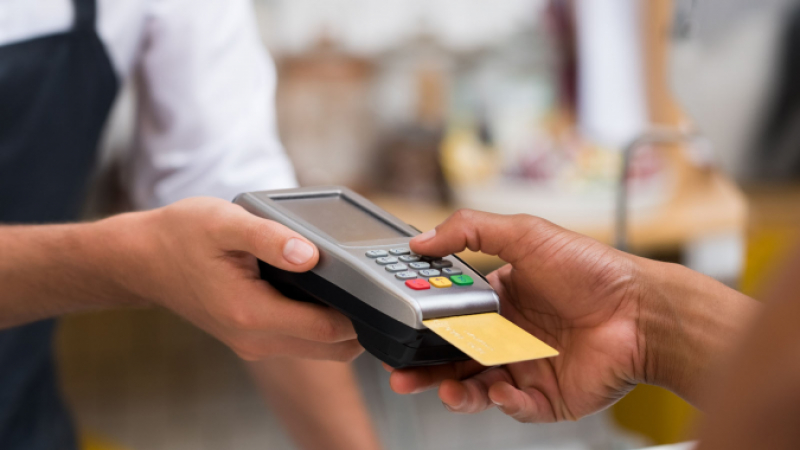 Paying using a card