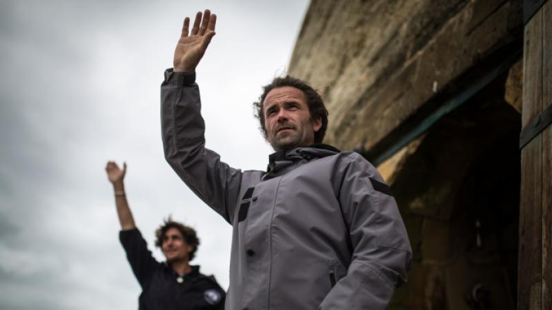 Benoit Jenouvrier with colleague