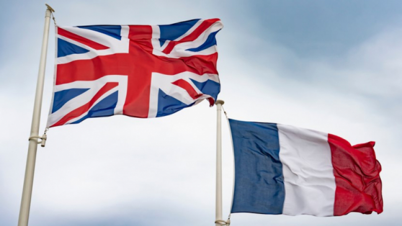 UK and French flags
