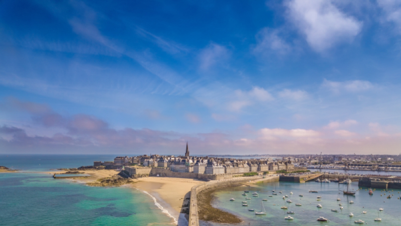 Town of Saint-Malo in Brittany