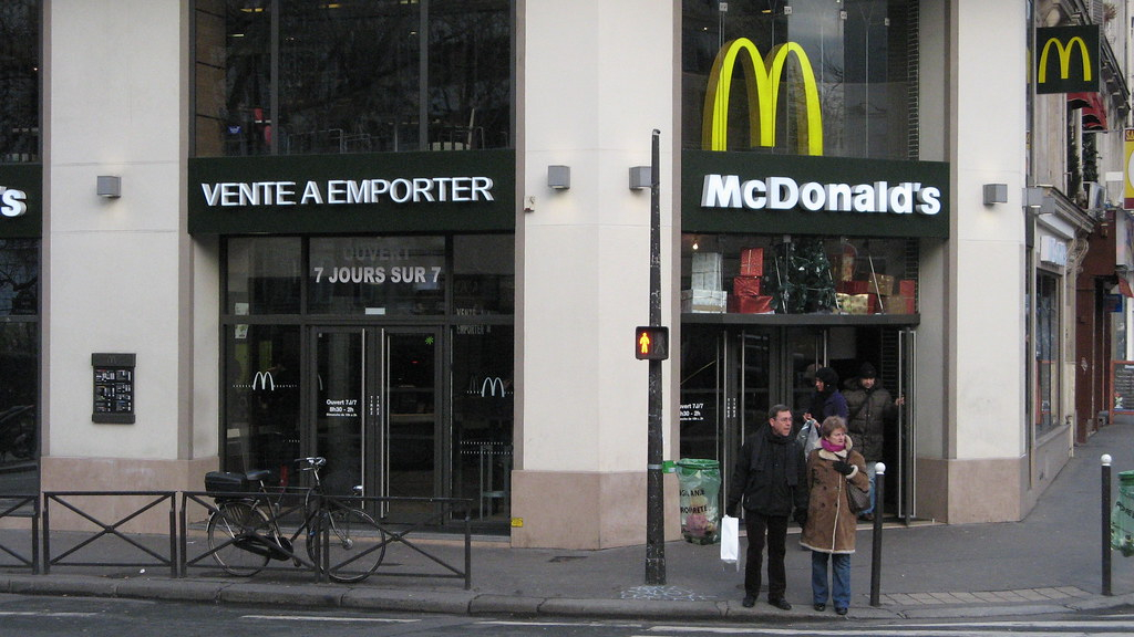 Fast food in France: Bordeaux and McDonald's top list