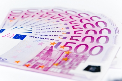Sweep of 500 euro notes