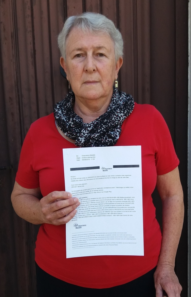Anne Williams with  the Cpam letter