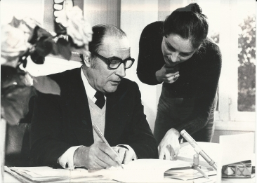 Florence Drory Pavaux with Mr Mitterand in 1975