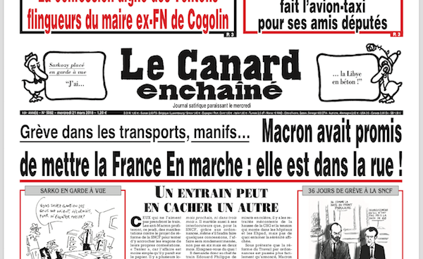 French newspaper front page