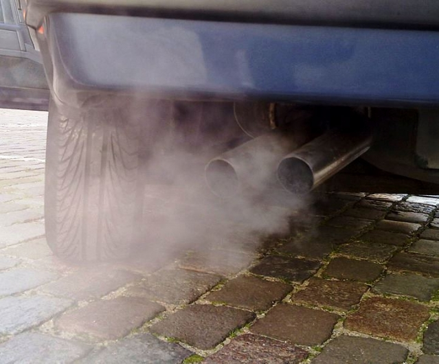 Smoke coming from car exhaust