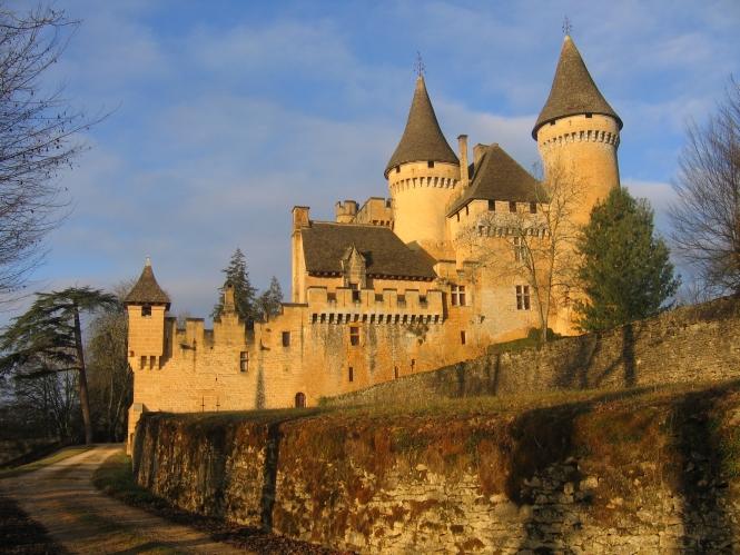 Chateau at dusk
