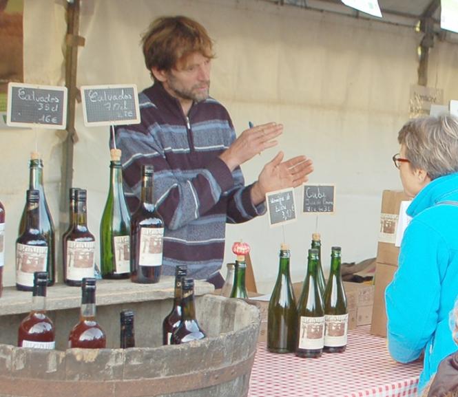 Cider producer stall at Fete de la Pomme