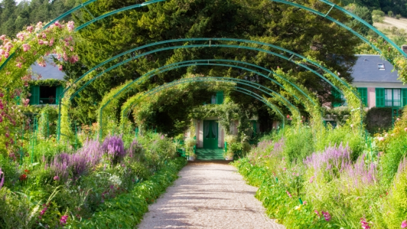 Clos Normand at Monet gardens in Giverny