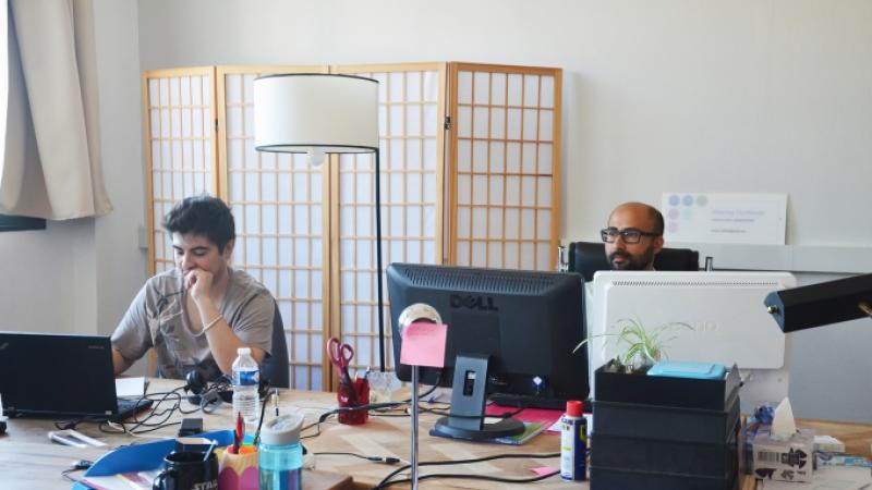 coworkers Michel Cziffa and Arthur Marteau 3 at Le 400