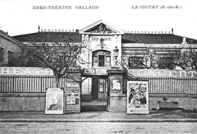 Gallaud organised the first film showing and the theatre was sometimes called after him