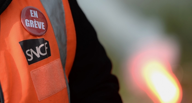 French train workers greve SNCF