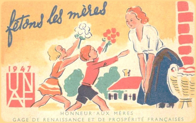 Advert for Mother's day in 1947 / public domain