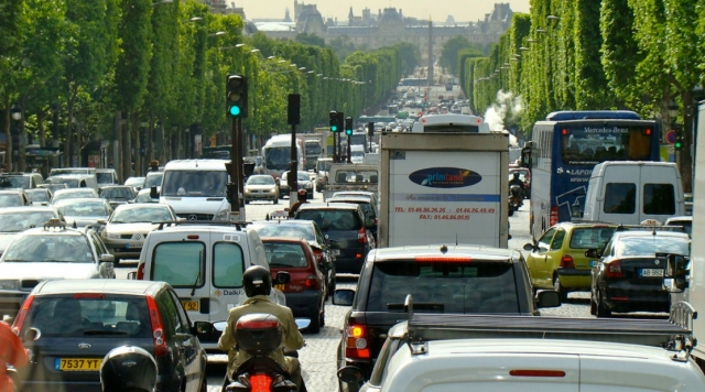 French traffic jams during holiday season