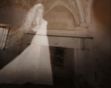 ghost against a wall