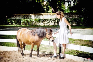 Girl with poney