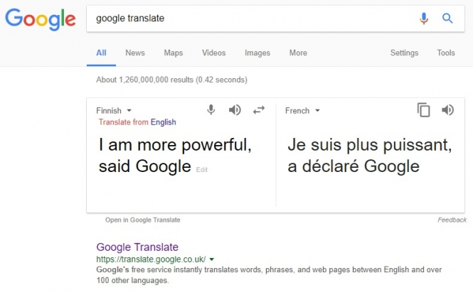 New online translator more powerful than google screenshot google translate spiritdancerdesigns Images