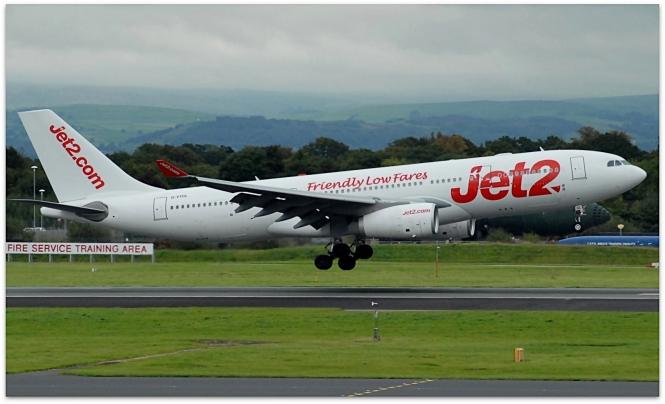 Jet2 plane taking off