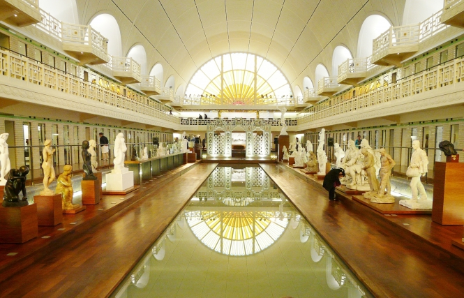 art deco swimming pool reimagined as a museum. Black Bedroom Furniture Sets. Home Design Ideas