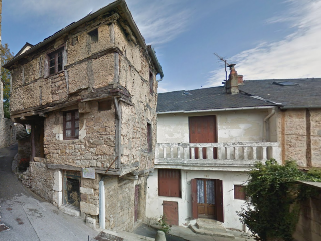 Ancient timber-framed house over three floors