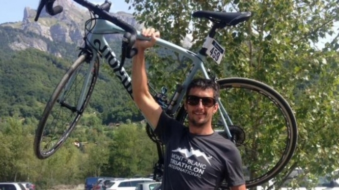 The cyclist Marc Sutton was accidentally shot dead during a mountain bike ride in the French Alps