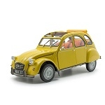 miniature car yellow 2CV