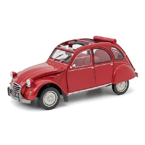 Miniature red car  2cv6 1972