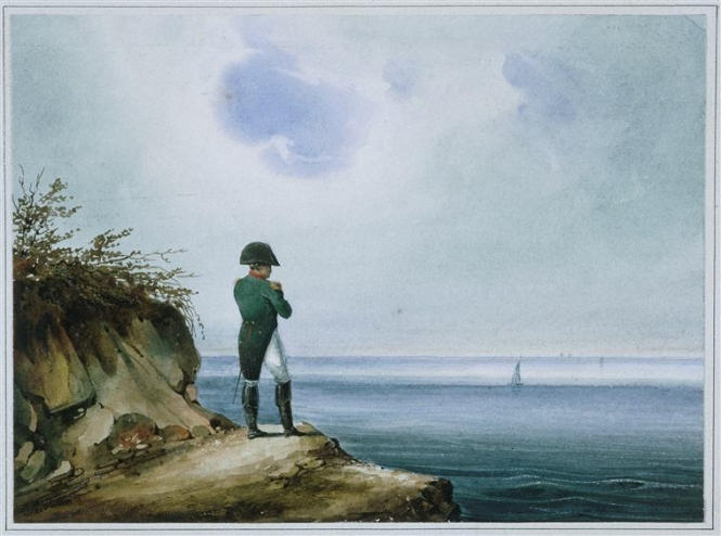 Napoleon looks out across the ocean
