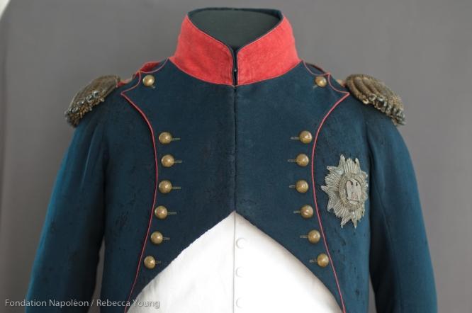 Close-up of Napoleon's uniform