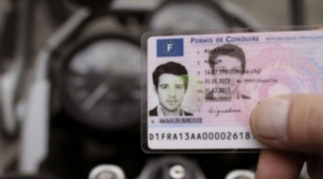 French driving licence blurred image