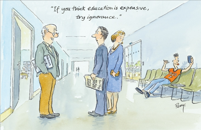 Perry Taylor cartoon on higher education