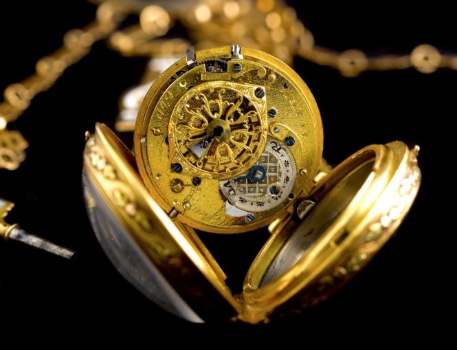 gold timepiece