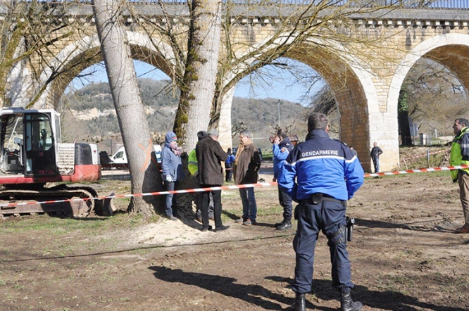 Police called in as protestors try to prevent tree felling in preparation for Beynac by-pass