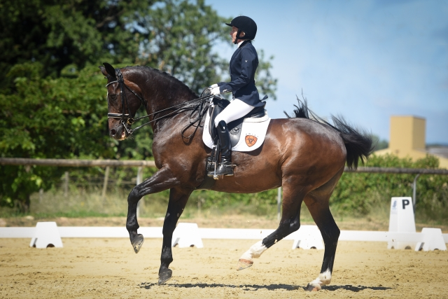 Blind rider Verity Smith competes in a dressage event on her horse Kit