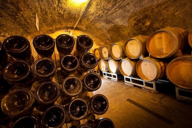 Saint Peray wine in a cellar