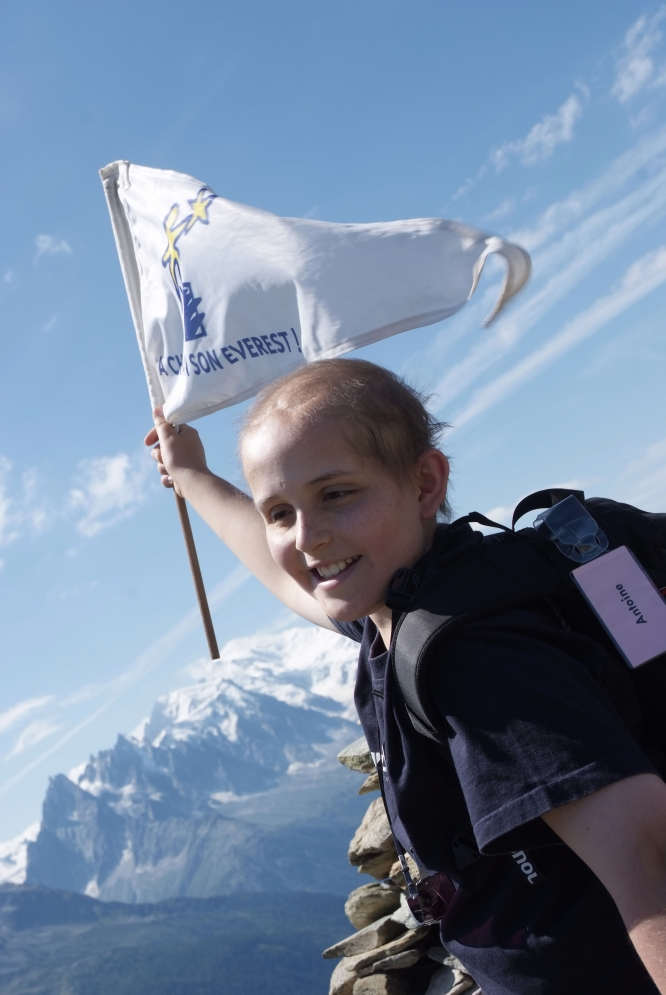 One of the children helped by cancer charity A Chacun son Everest