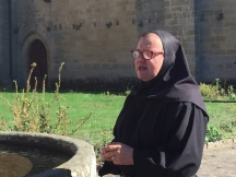 Sister Christophora, who oversees the upkeep of the Abbey