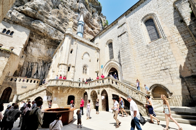 The Rocamadour sanctuary with its many secrets and legends