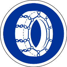 Snow chain sign