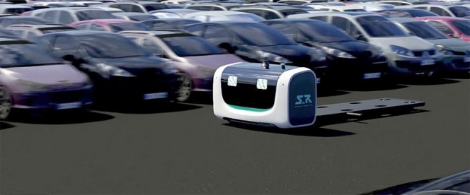 Valet parking robot low-loader