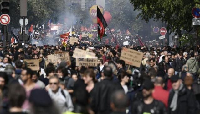 street protest in Paris