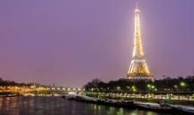 Paris by night in winter