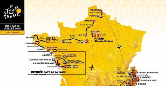 Challenges expected as Tour de France 2018 route unveiled