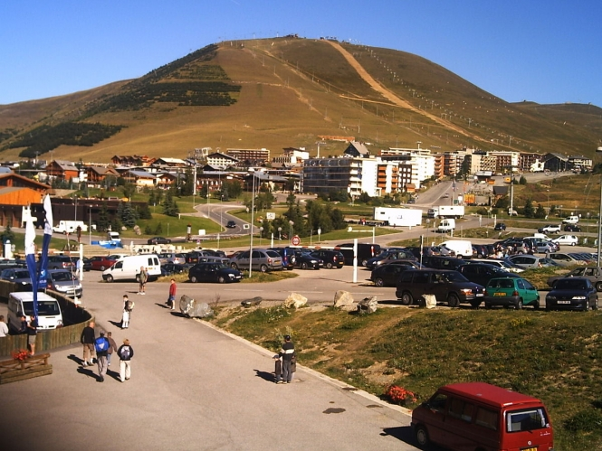 The ski resort of Alpe d'Huez in summer