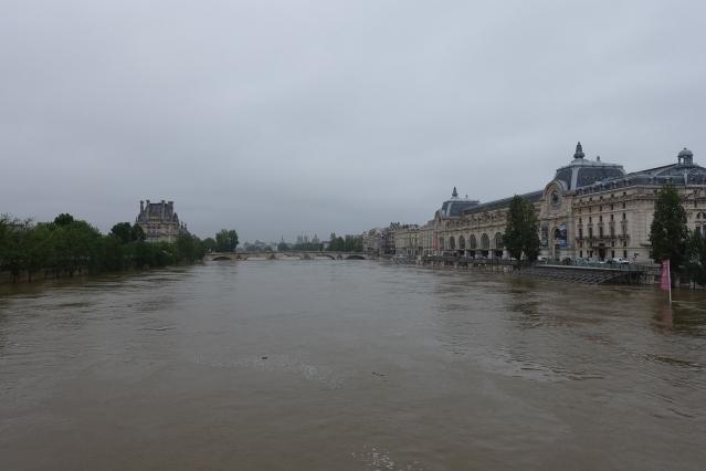 The Seine flooded in Paris in June 2016