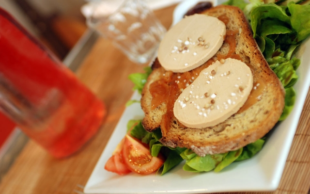 foie gras served as a tartine