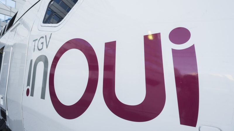 The new inOui logo on the side of a train